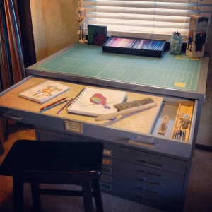 custom drawing table flat file