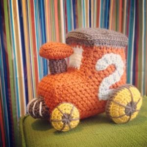 little toy train engine crochet pattern