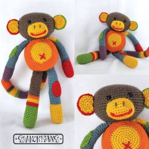 monte the colorful monkey